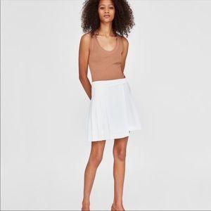 Zara women's pleated skirt